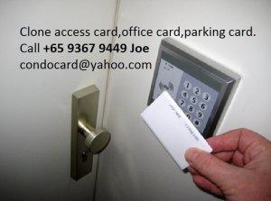 Clone/copy door access card, key card, office door card, condo card