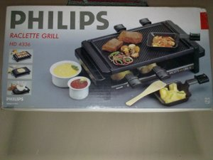 Electric Philips Raclette Grill Hd 4336 Used Once In