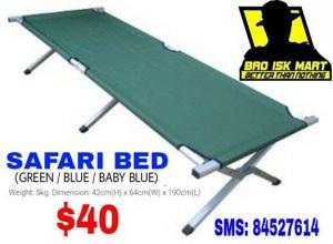 Wonderful Safari Bed   Light Weight Aluminium   $40. 00   Tampines